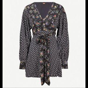 Free People Dresses - NWT Free People Wonderland Floral Mini Dress XS